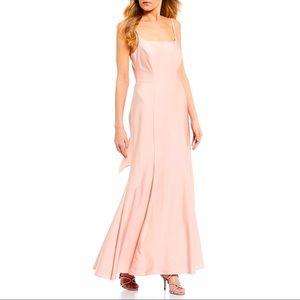 Morgan & Co. $160 Power Satin Trumpet Gown Blush